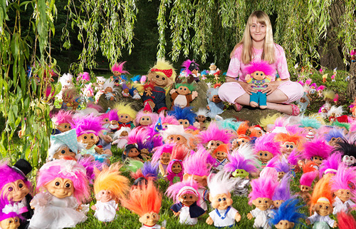 Guinness records 2012 collections. The largest collection of trolls belongs to Sophie Marie Cross (UK)