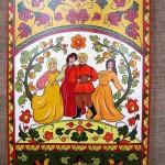 Boretsky folk painting on wood by Anna Selezneva