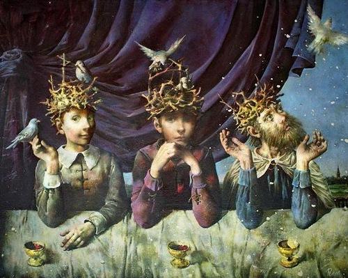 Russian artist Sergei Rimoshevsky