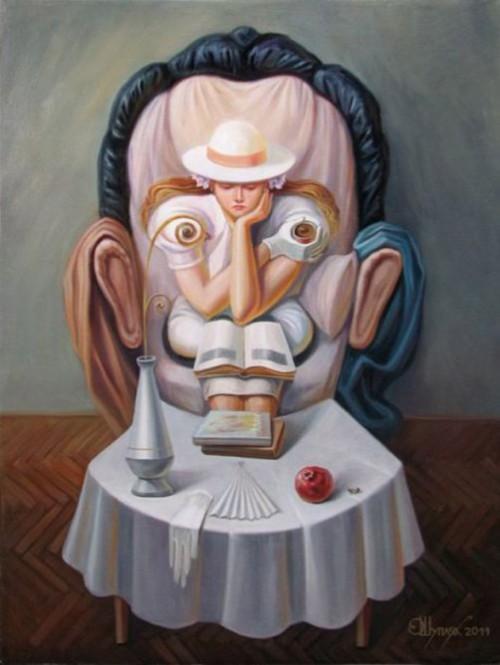 Oleg Shuplyak optical illusion Paintings