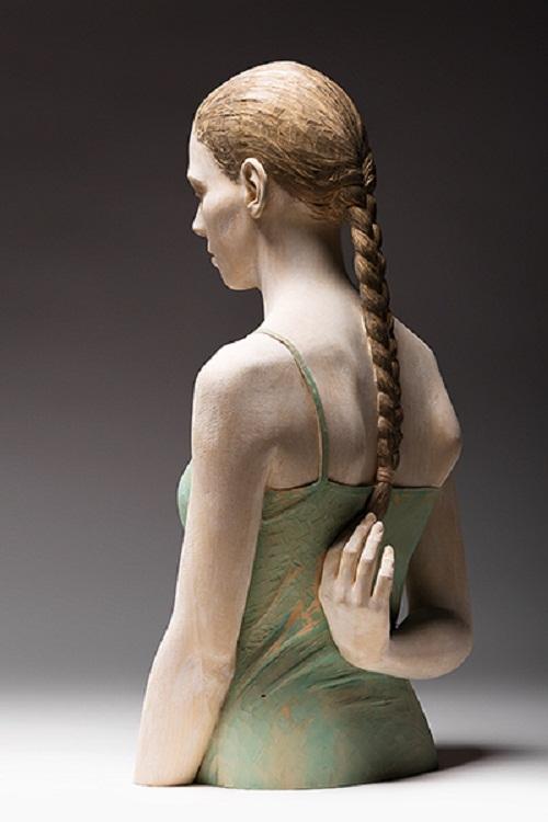 Ricordi-Infanzia, hyperrealistic sculptures of wood by Bruno Walpoth