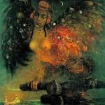Painting by Elena Flerova. Sirin