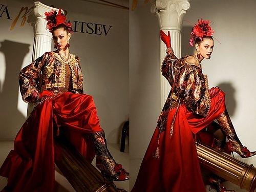 Russian super model Xenia Kahnovich. Fashionable style a-la-Russe