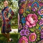 Beautiful Pavlovo-posad patterns, Russian style fashion