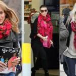 Western celebrities wearing Pavlovo-Posad shawls