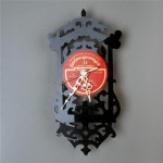 Wall clocks made from old vinil records by Estonian designer Pavel Sidorenko