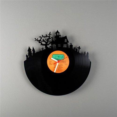 Wall clocks made from old vinyl records by Estonian designer Pavel Sidorenko