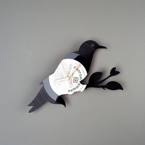 clocks made from old records