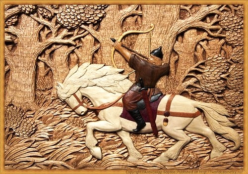 Russian woodcarver Alexander Borzov