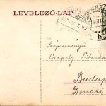 Budapest sent postcard