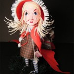 Little Red Riding Hood. Paper sculpture by British artist Sher Christopher