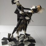 Tango for two. Paper sculpture by British artist Sher Christopher