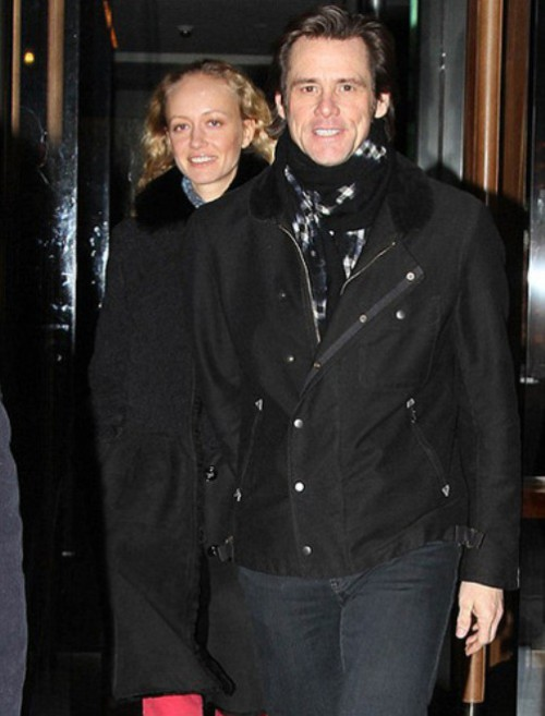 Beautiful Anastasia Vitkina and Jim Carrey