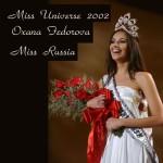 Miss Universe 2002 Oxana Fedorova