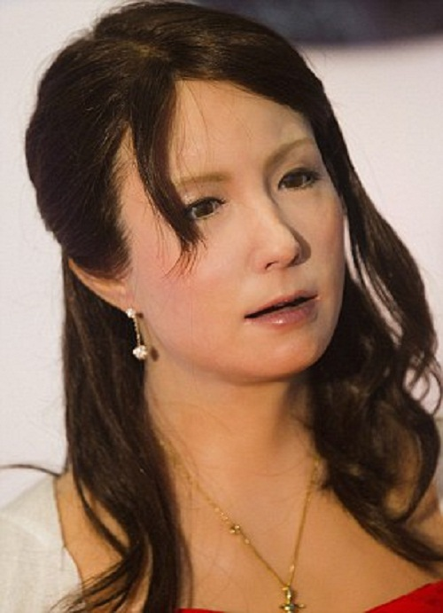 Robot woman Geminoid F. produced by Hiroshi Ishiguro, a renowned robot designer at Osaka University in western Japan