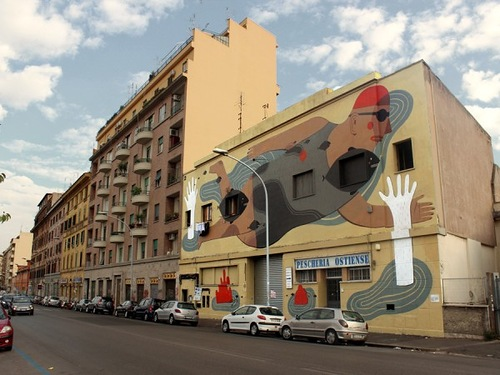 Colorful street art by Agostino Lacurci