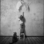 A girl and a cat, photographer Andy Prokhorov, St. Petersburg, Russia