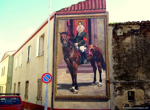 Painted walls in Sardinia by Mauro Angiargiu