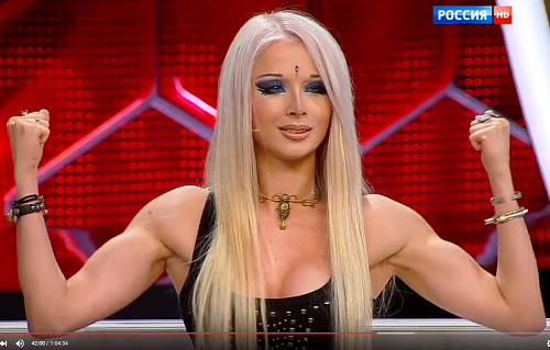 30-year-old Barbie - body-builder Valeria Lukyanova, 2015
