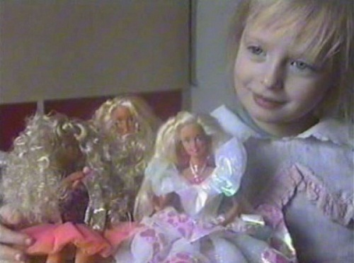Angelica Kenova in her childhood, that's what the girl was dreaming of - to become Barbie!