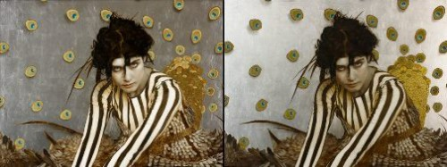 Gold and silver leaf Painting by American artist Brad Kunkle