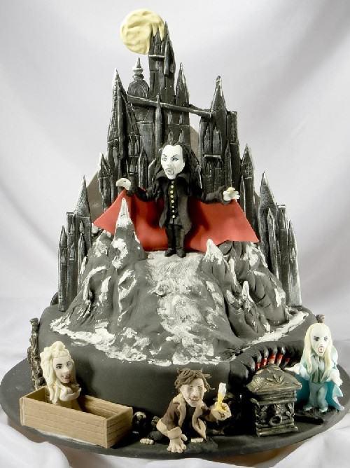 Birthday cake on Vampire Ball production. Tasty sculpture by Vladimir Sizov