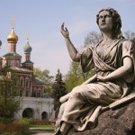 Beautiful Novodevichy Convent in Moscow, Russia