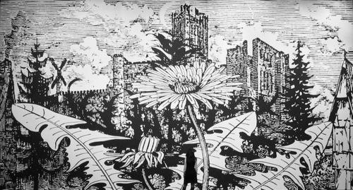 Botanical landscapes by English painter Paul Morrison