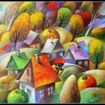 Painting by Ukrainian artist Yuri Matsik
