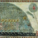Entering Jerusalem. Painting by Georgian artist Merab Abramishvili 3