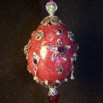 Wine red Faberge style Egg