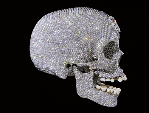 For the Love of God, a human skull recreated in platinum and adorned with 8,601 diamonds weighing a total of 1,106.18 carats