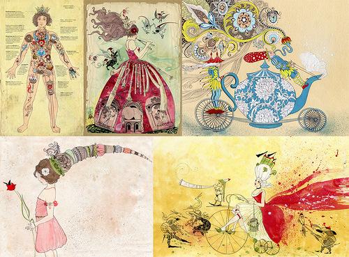 Illustrations by Russian self-taught artist Svetlana Dorosheva