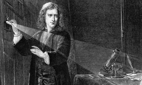 Isaac Newton the creator of color theory