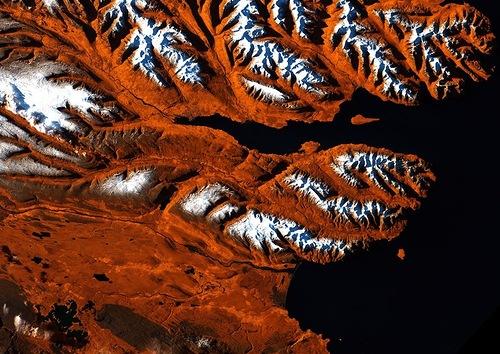 Earth art. Icelandic Tiger