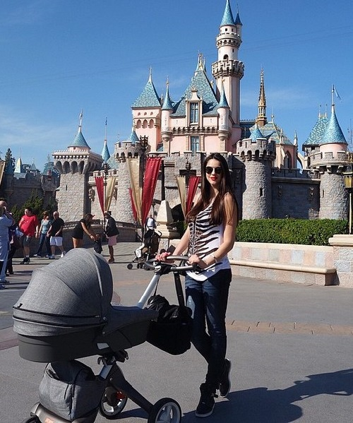 Karina Torres with her baby