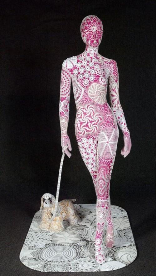 Joana Vasconcelos lace installations