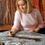 Matchstick painting by British artist Annie Drew