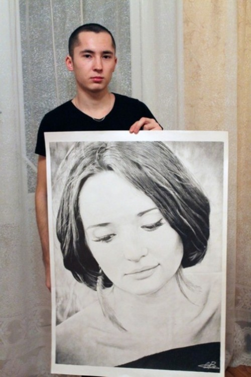 Pencil drawing by Rustam Valeev