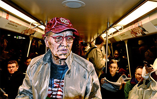 People as canvases. Body painting by Alexa Meade