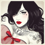 Tattooed girls in Glamorous Sketches by Brazilian artist Tati Ferrigno