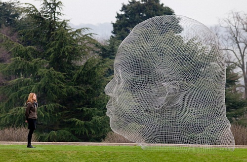 Jaume Plensa Sculpture made of letters