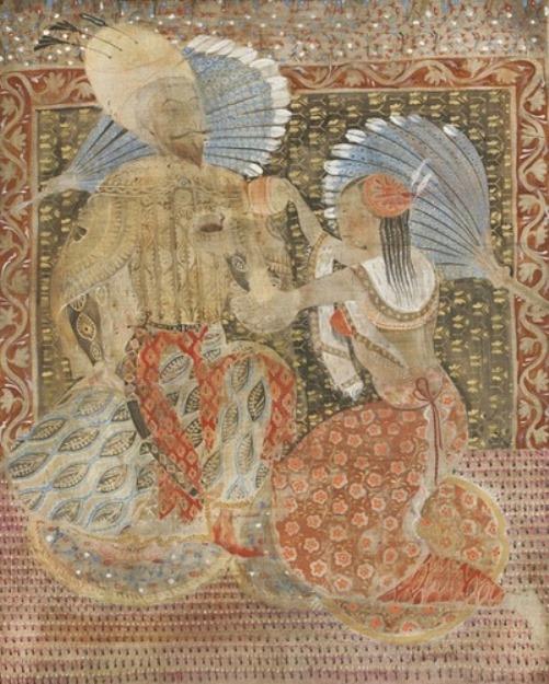 Shah Abbas. Painting by Georgian artist Merab Abramishvili