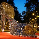 A giant art installation Shoe