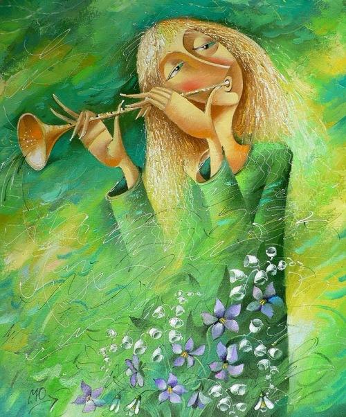 Spring melody. Painting by Yuri Matsik