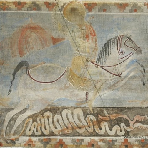 St. George. Painting by Georgian artist Merab Abramishvili