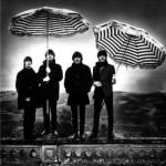 Striped umbrellas. The Beatles