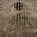 Closeup. Art installation 'The Bride'
