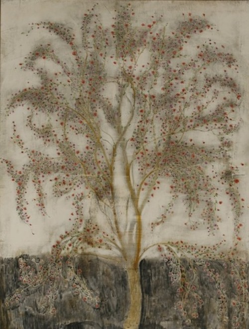 Tree. Painting by Merab Abramishvili, Georgian artist