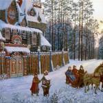 Vedic Rus in painting by Russian artist Vsevolod Ivanov